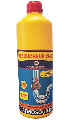 Atmos Products 1314 DEBOUCHEUR Choc 1314-Déboucheur Pro Nouvelle Formule. Ultra Efficace pour Tous Types de Bouchons, dans Toutes Les pièces de la Maison, Liquide