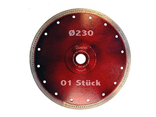 Diamant Trennscheibe extra dünn Durchmesser 230 mm für extra harte Fliesen Steinzeug Naturstein Winkelschleifer