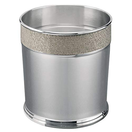 Round Small Trash Can in Steel in Bronze Finish