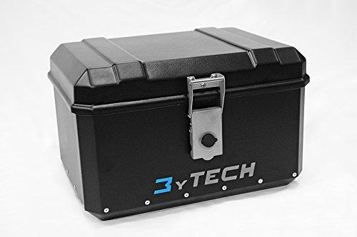 MyTech - Coffre light 60 litres en aluminium et ABS avec plaque de fixation pour - X-ADV uniquement avec porte-bagages d'origine.