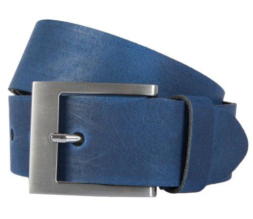 Bernd Götz Gürtel Herrengürtel Ledergürtel Kürzbar Blau 163, Länge:90, Farbe:Blau
