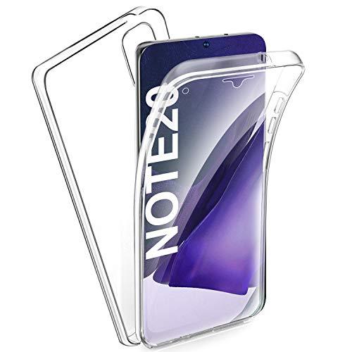 AROYI Samsung Galaxy Note 20 Hülle 360 Grad Handyhülle, Silikon Crystal Full Schutz Cover [2in1 Separat Hart PC Zurück + Weich TPU Vorderseite] Vorne und Hinten Schutzhülle für Note 20 (Transparent)