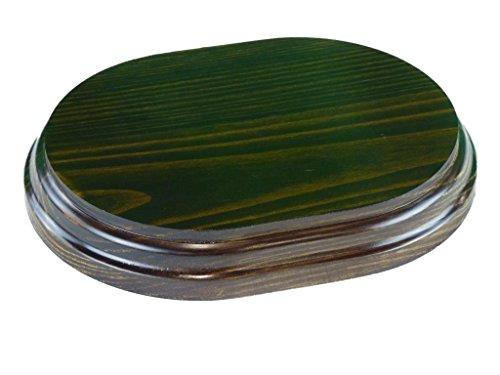 Greca Peanas rectangulares ovaladas. Acabado Barniz Nogal. Varias Medidas. Madera Maciza. (17 * 13 cms)