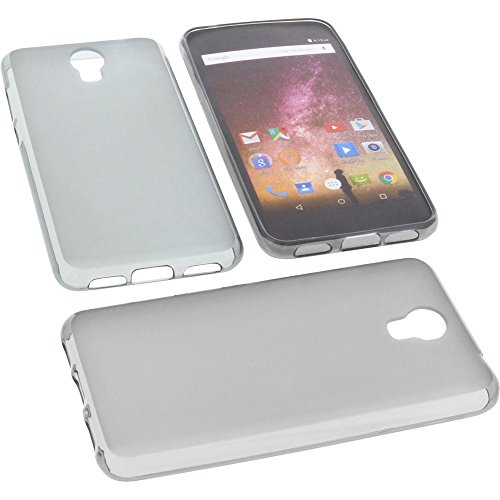 foto-kontor Tasche für Archos Core 50p Gummi TPU Schutz Handytasche grau