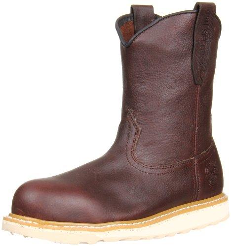 Irish Setter mens Wellington Aluminum Toe industrial and construction boots, Brown, 10.5 US