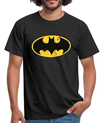 DC Comics Batman Logo Used Look Männer T-Shirt, 3XL, Schwarz