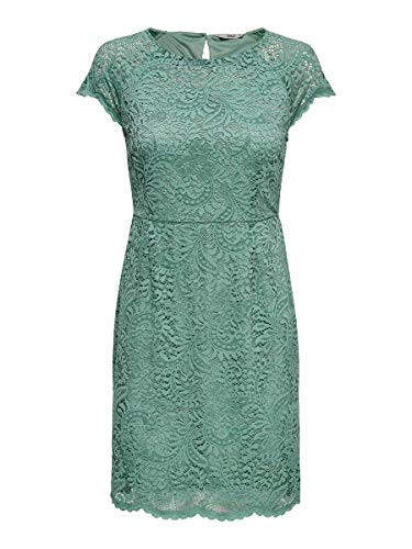 ONLY Damen Kurzkleid Spitzen 42Chinois Green