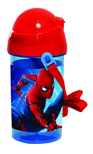 Explorer.CM 097271 Spiderman Pop Up drinkfles, blauw/rood