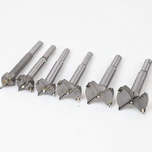 JINKEBIN Brocas de madera Forstner para taladro de madera autocentrado, juego de herramientas de carpintería de 15 mm, 20 mm, 25 mm, 30 mm, 35 mm (número de piezas: 20 mm)