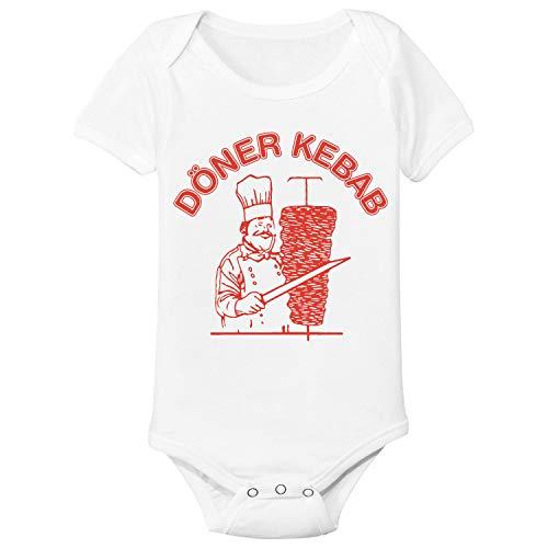 Spruchreif24de Döner Baby Body Strampler Kurzarm für Jungen und Mädchen (0-3 Monat)