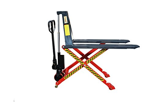 Pake Handling Tools Manual Hand Pump Lift Truck- High Lift Pallet Jack - Heavy Duty Easy to Use Hydraulic Lift - 3300lbs Capacity for Skid/Single Sided Pallet
