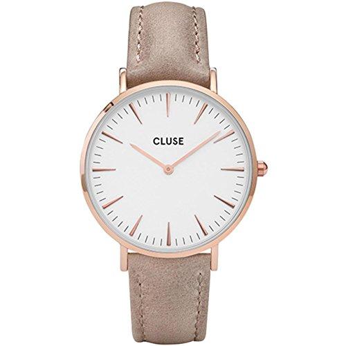 Cluse Reloj Analógico para Mujer con Correa de Cuero – CL18031