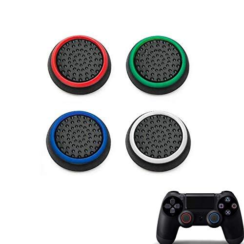 Rpanle Gommini Joystick, Tappi Thumbstick Cap Copertura del Silicone Barra di Comando del Bastone Pollice per PS5,PS4, Xbox 360, PS3 Game Controller (4 Pezzi)