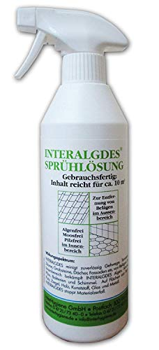 Interhygiene 58500D INTERALGDES© Sprühlösung Gebrauchsfertig Moos Algen Schimmel-Frei, 500 ml für ca. 10 m²