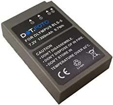 Dot Foto BLS-5  BLS-50 PREMIUM Replacement Rechargeable Camera Battery EXTRA with InfoChip for Olympus 7 2v 1350mAh Year Warranty