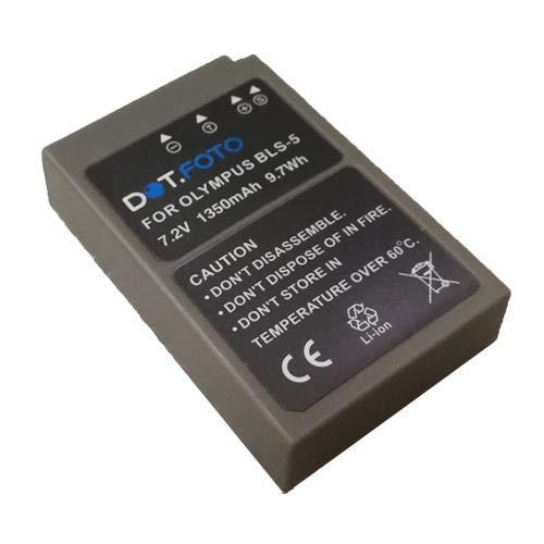 Dot.Foto BLS-5, BLS-50 Premium Alta Capacidad 7.2v / 1350mAh Batería Recargable para Olympus