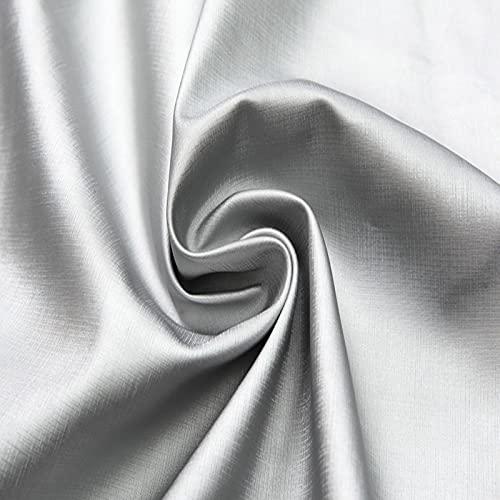 MUYUNXI Polipiel Cuero Artificial De Cuero para Tapizar Sofá Polipiel Silla Manualidades Cojines 138 Cm De Ancho Vendido por Metro(Color:Plata)