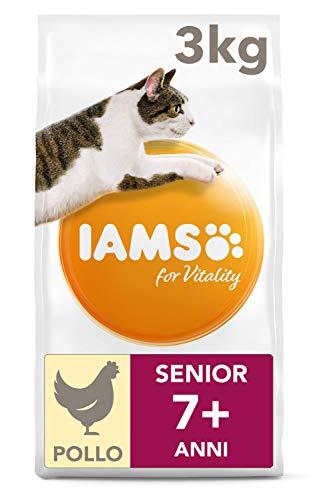 IAMS for Vitality Cibo Secco con Pollo Fresco per Gatti Anziani, 3 kg