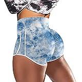 Yoga Pantalones,2021 Pantalones calientes transfronterizos europeos y estadounidenses Cintura alta Cintura Hip Tied Lámina Corriente Culturismo Culturismo Pantalones cortos Pantalones cortos Pantalon