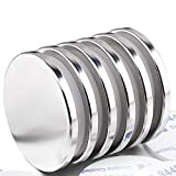LOVIMAG Super Strong Neodymium Disc Magnets, Powerful N52 Rare Earth Magnets - 1.26 inch x 1/8 inch, Pack of 6