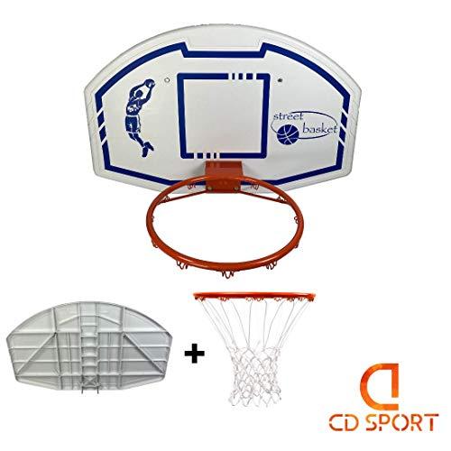 CDsport Kit da Basket, Tabellone, Canestro e Retina, qualità Premium