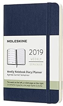 Moleskine Classic 12 Month 2019 Weekly Planner Soft Cover Pocket  3.5  x 5.5   Sapphire Blue