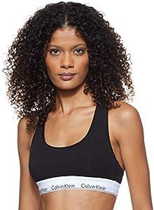 Calvin Klein Modern Cotton-Bralette Sujetador, Negro (Black 001), S para Mujer