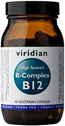 Viridian HIGH TWELVE Ranking TOP17 Vitamin B12 90 Caps B-Complex Outlet ☆ Free Shipping Veg with