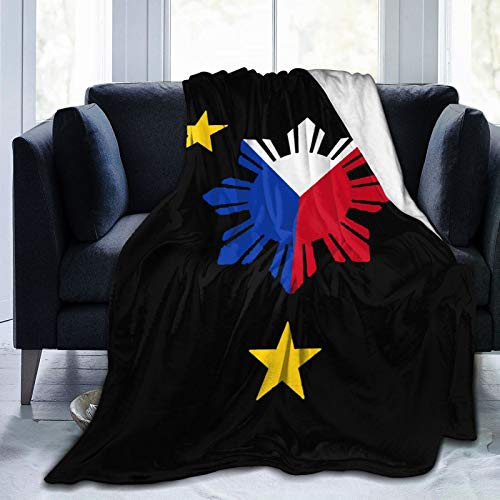 Zordalating Philippines Sun and Stars Flag Soft and Warm Throw Blanket Plush Bed Couch Living Room Fleece Blanket 50'X40'60'X50'80'X60'