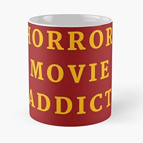 Addicted Fear Horror Devil To Movies Netlist Series Halloween Taza de café con Leche 11 oz
