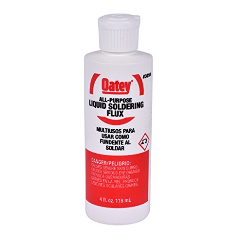 Oatey 30106 Soldering Liquid Flux, 4 Oz, No 11, 4-Ounce, Yellow
