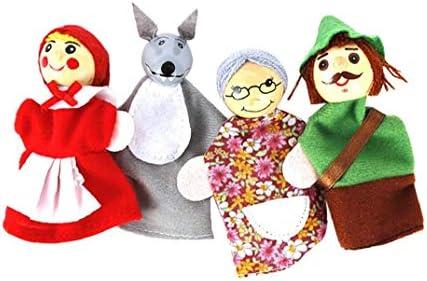 Cartoon Finger Puppets Soft Little Red Riding Hood Christmas Animal Velvet Storytelling Doll product image