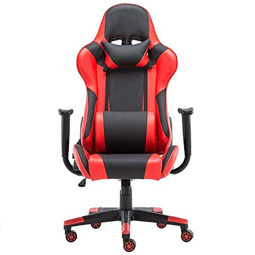 Video Game Chair,Rotating Ergonomic Office Desk Chair High Back Computer Chair Ergonomic Adjustable Racing Chair Executive PC Chair (Color : Picture Color, Size : 70X70X125CM) with Backrest