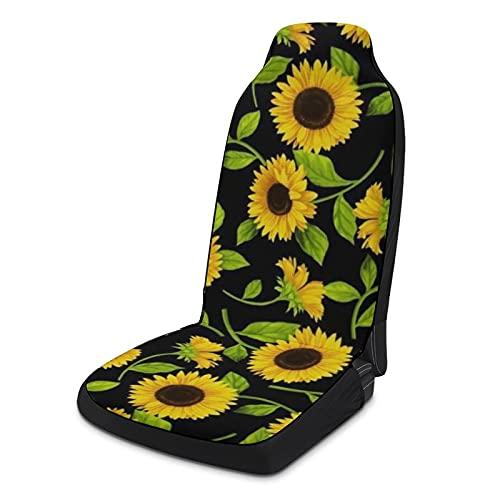 Fundas de asiento de coche suaves para mujeres y hombres, paquete de 2, protectores de asiento universales duraderos para decoración de interiores para SUV, sedanes, camión, furgoneta, hermoso girasol