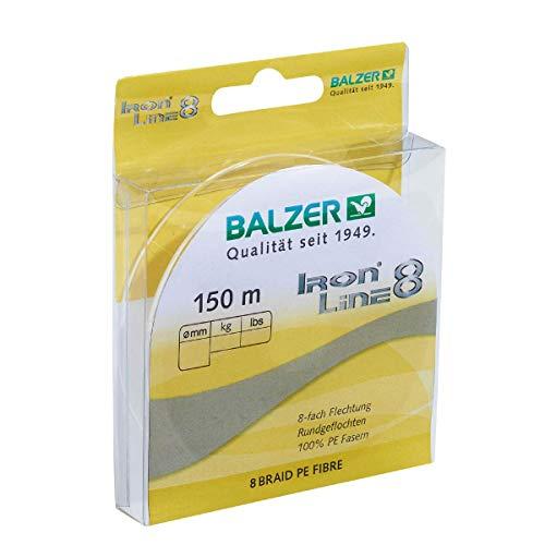 8-fach geflochtene Schnur Balzer Iron Line 8 gelb (0,12)