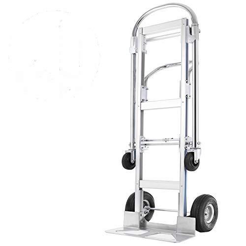 VEVOR Carretilla de Mano con 2 o 4 Ruedas Carro de Transporte Apilable (880 lbs)