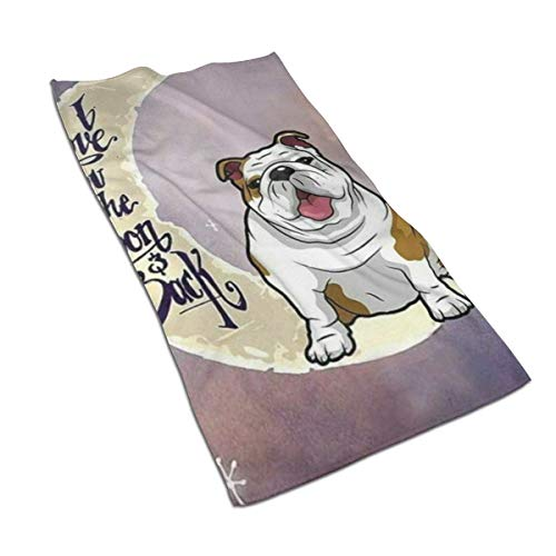 antoipyns English Bulldog Unique Microfiber Hand Towels Towels Fast Drying Towels Sports Towels (27.5'x17.5') Use for Travel,Fitness,Yoga,Tea Towel,Kitchen Towel
