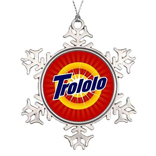 Monsety Trololo 1,25 Cool Russischer Weihnachtsbaum Deko Schneeflocke Ornamente Hochzeit Jahrestag Andenken