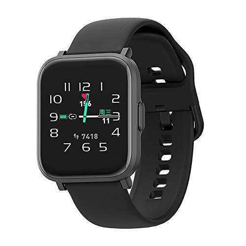 SmartWatch, Reloj Inteligente IP68 con Pantalla Táctil de 1.3'', Pulsera Actividad Inteligente Hombre Mujer Niños para Deporte, Monitor de Actividades, Podómetro Cronómetros para iOS Android,Negro