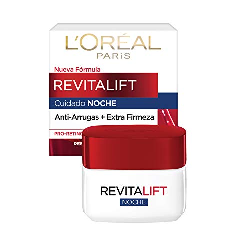 L'Oreal Paris Crema Antiarrugas de Noche Revitalift, 50 ml