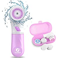 Waterproof Facial Cleansing Spin Brush with 5 Rotating Brush Heads