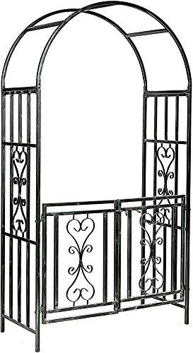 Jardín arcos y puertas - subir subió de soporte de plantas pérgola entrada de la puerta de arco,Black