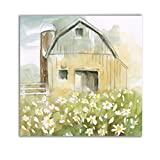 WEXFORD HOME Daisy Barn Gallery Wrapped Canvas Wall Art, 10x10