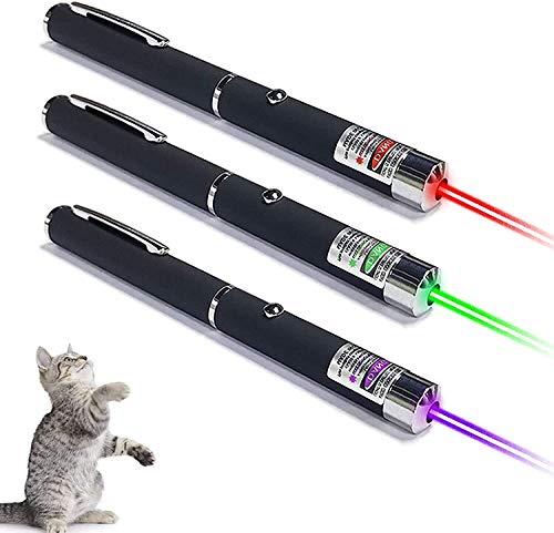 LED Pointer Katzen Hund Spielzeug Haustier LED Light Licht Pointer mit USB Wiederaufladbar, Bonus Zwei kleine
