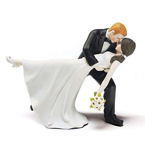 Weddingstar A Romantic Dip Dancing Bride and Groom Couple Figurine for Cakes - Customizable