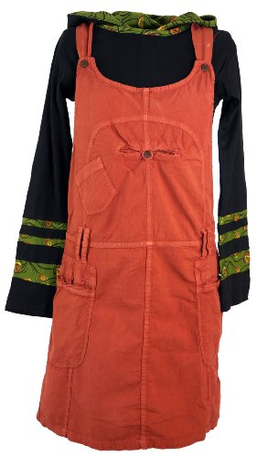 GURU SHOP Latzrock, Trägerkleid, Hippierock, Damen, Rost, Baumwolle, Size:S (36), Röcke/Kurz Alternative Bekleidung