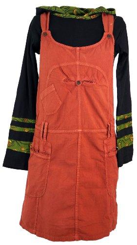 Guru-Shop Latzrock, Trägerkleid, Hippierock, Damen, Rost, Baumwolle, Size:L (40), Röcke/Kurz Alternative Bekleidung