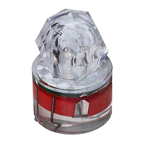Almencla Luz de Pesca de Flash Automático LED Lámpara de Señuelo de Cebo Estroboscópico de Calamar Submarino de Caída Profunda - Rojo
