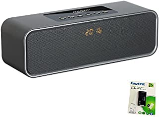 i-Tentek Portable Bluetooth Speaker, with10W Acoustic Driver, LED Display, FM Radio, Alarm Clock, Handsfree Speakerphone, Slots for Micro SD Card & USB & AUX-in, for Smart Phone, Tablet and More
