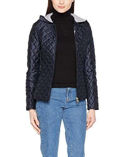 Geox Woman Jacket leichte Gürteljacke Giacca, Blu (Blue Nights F4386), 46 Donna